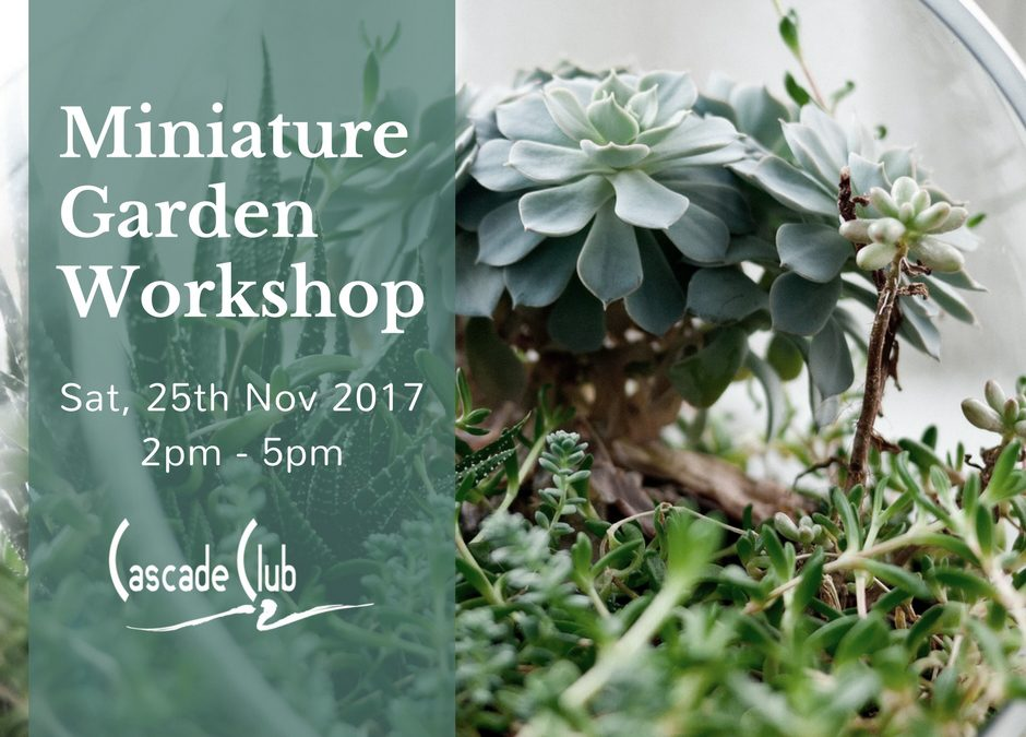 Miniature Garden Workshop